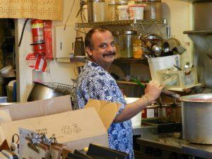 Sanjeev in kitchen