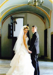 Our wedding in 2006 at the monastery.