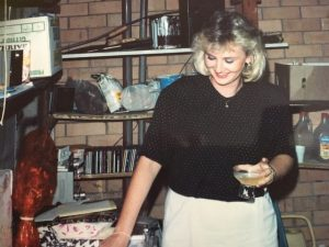 Lynda - 21st birthday! It's 1989 hairstyle.