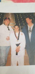 Kristy and taekwondo teachers