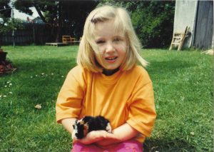 6yo Eden, with pet guinea pig